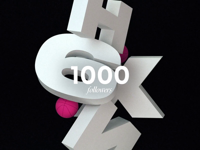 1K FOLLOWERS 🙏🏼 animation motion design followers 1k animated
