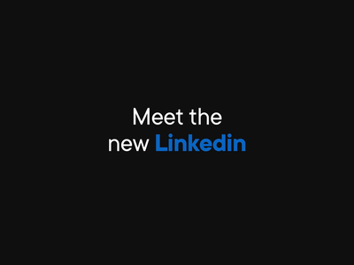 New Linkedin Animated Logo animated logo animated logo logotype motion linkedin redesign design
