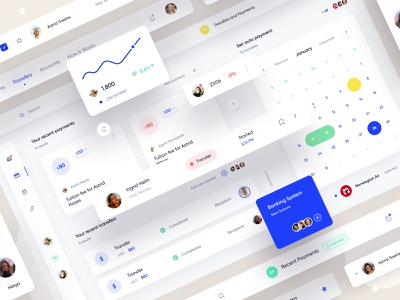 Banking Dashboard Interface ui design clean website webdesign desktop social banking app web uiux ux minimal ui interface design