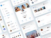 Social Web App UI network website webdesign clean brand user interface user experience social web ux ui minimal interface design app