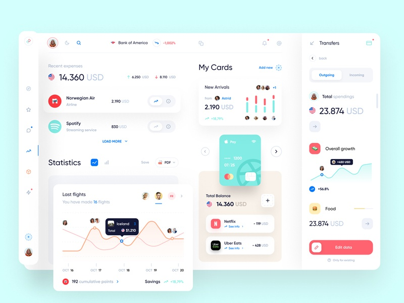Banking Dashboard Design web app clean branding webdesign finance bank dashboad desktop user interface user experience web ux ui minimal interface design app
