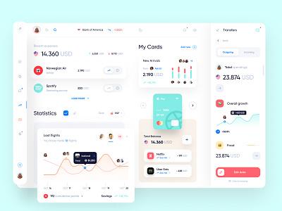 Banking Dashboard Design web app clean branding webdesign finance bank dashboad desktop user interface user experience web ux ui minimal interface design app