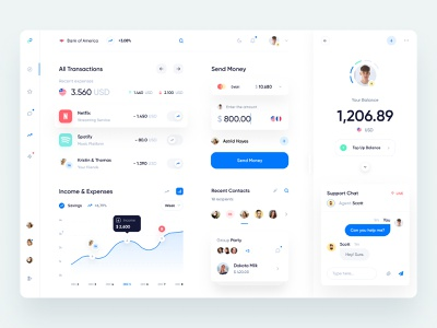Banking App Dashboard dashboard brand fintech finance banking webdesign user interface user experience web ux ui minimal interface design app