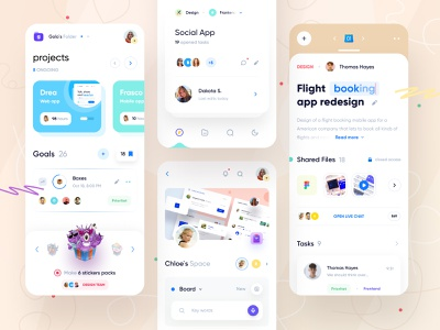 Mobile App Project Management UI color dashboad fintory mobile management product fintech clean webdesign user interface user experience web ux ui minimal interface design app
