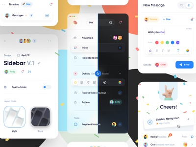 🌈Components Web App Interface web design crypto card design system clean management dashboard mobile sidebar component fintech user interface user experience web ux ui minimal interface design app