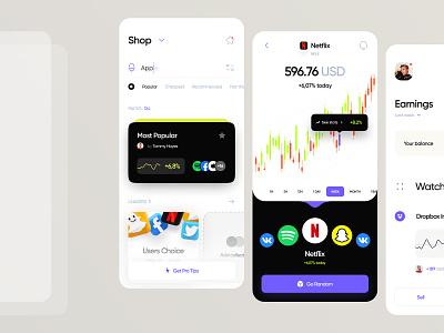 Investment Mobile App golo invest isometric mobile financial app crypto banking investment fintech ui design ux design mobile design product design web ux ui minimal interface design app