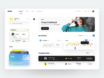 Banking and Investment App saas stocks finance bank crypto cryptocurrency investment banking fintech user experience user interface dashboard web design web ux ui minimal interface design app
