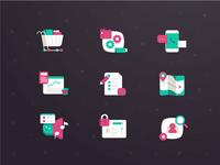 Yiha Retro Color Icon Set