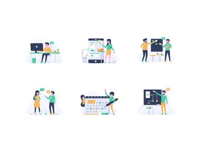 Creative Studio Illustration presentation illustration colors vector graphic design character creative studio ui android flat design flat flat character