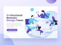 Remote Design Team Hero Landing page