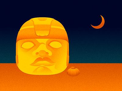 Cabeza Olmeca cabeza head olmeca olmec azteca aztec mexico luna moon peyote hikuri