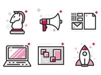 Icons for Nativo Digital´s Website