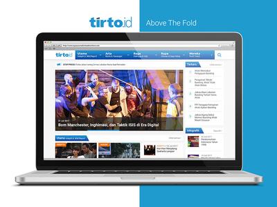 Tirto Redesign Pro Bono Website Homepage