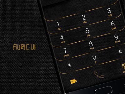 Auric Ui user interface dialer theme