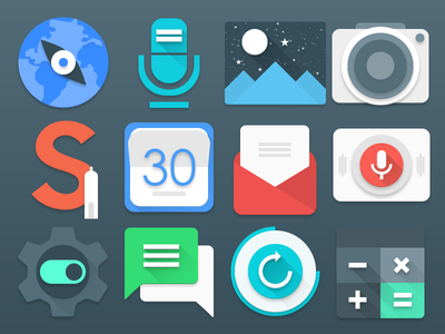 Inspire Ui material samsungtheme icons