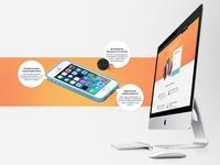 Phone cases«iHug» —landing page