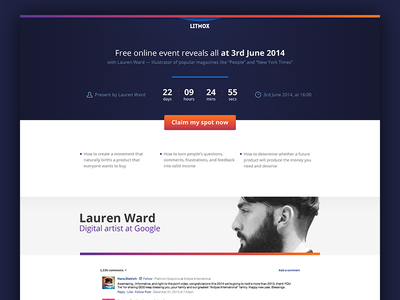 Landing page template #2