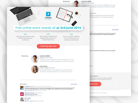 Landing page template #3