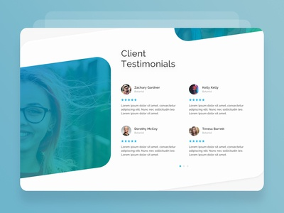 Magna-Bid_Web-Screen-Testimonial-UI creative we page ui ui ux trend materialdesign shadows cards colors typography icons testimony bidding portal medical web screen design illustration clean ux minimal testimonials