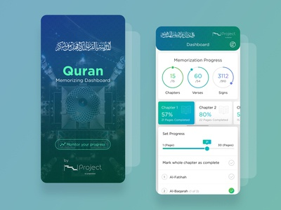 Quran_Memorizing_Mobile_Dashboard-UI icons mobile dashboard graphs android app ios mobile app quran typographic colors dashbaord ux android dashboard template clean  dashboard material design illustration clean app ux minimal