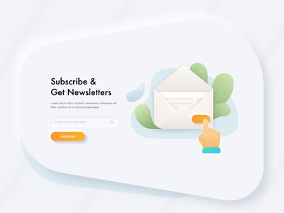 Newsletter Subscription UI illustrations/ui subscription newsletter subsciption web app ui ux subscribe button shadows gradients 2d icons illustrations newsletter subscribe material modern illustration ux icons ui clean minimal