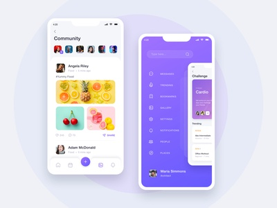 Fitness App - Mobile UI gym training app food exercise body fitness yoga fitness tracking app gym fitness app fitness android ios mobile app ui ux vinodkumarpalli design colors modern clean minimal