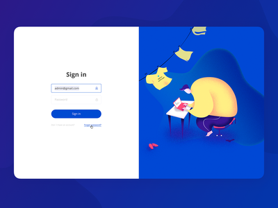 Merch service - Sign in merch service ux ui character illustration