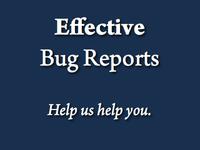 Effective Bug Reports