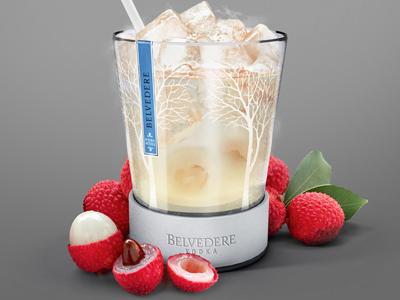 Belvedere drink illustration