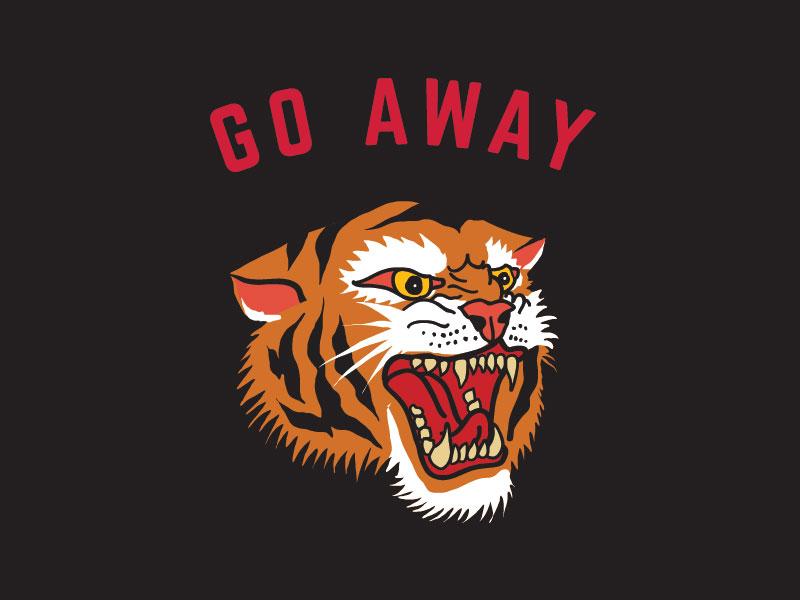 Go Away animal black tiger go away