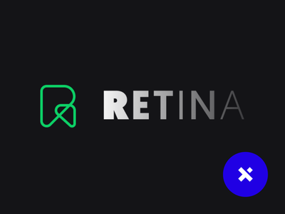 Retina Bet ui ux pixelcast app web bet logotipo green gray black branding logo
