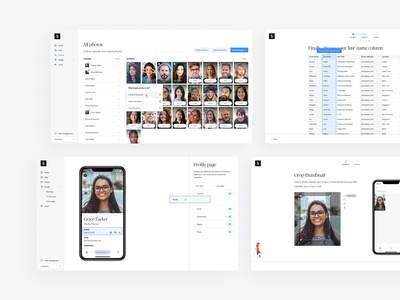 Names & Faces - Organization management typography ui clean minimal app web design