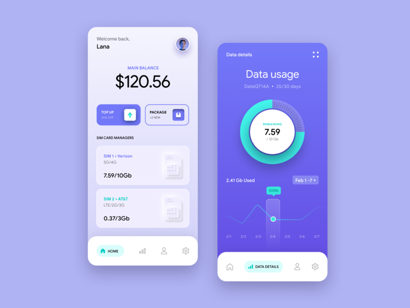 Daily UI Challenge | Mobile Data Management