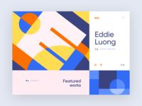 Daily UI 003 | Portfolio Hero Concept ux hero vector branding illustration flat header website interface web grid ui typography inspiration minimal design