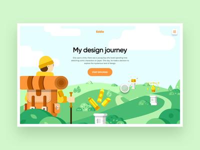 My Design Journey | Team Debut landing page landingpage quest nature journey flat illustration web design ux interaction animation website interface web grid ui typography minimal design