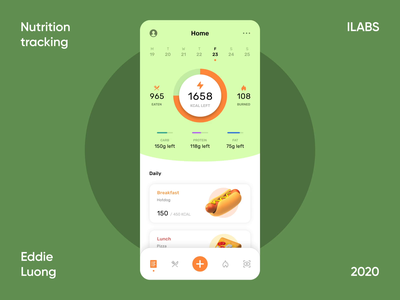 Interaction concept   AI nutrition tracking tracking nutrition diet health food data visualization charts graphs scan ar ai dashboard product mobile ux interaction animation minimal ui design