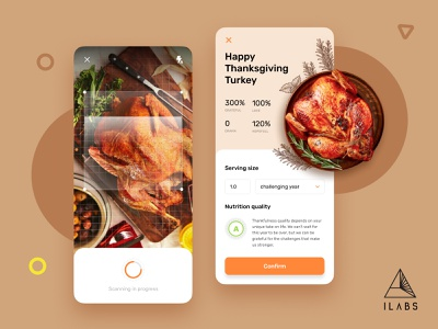 Nutrition Scanner | AI Concept design ux ui mobile product ar ai scan food health diet holiday thanksgiving
