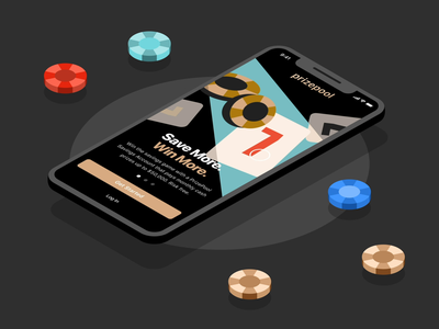 Onboarding Flow | PrizePool lottery saving token splashscreen onboarding mockup vector mobile product interaction animation ux interface inspiration minimal design app ui