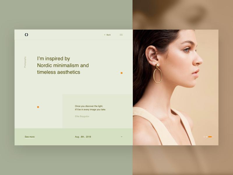 Blog Header Exploration header space web interface ui inspiration grid typography minimal design