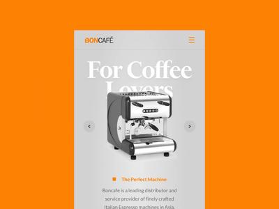 Responsive Website Transition For Boncafe