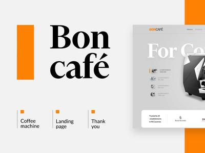 Boncafe Landing Page