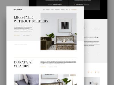 Donata Furniture | Homepage Exploration 5