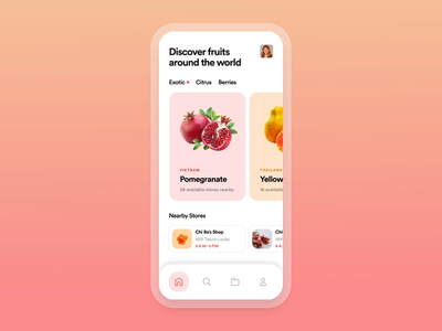 FROOT — Interaction Concept nutrition modern typogaphy product design mobile fruit ecommerce product app ux interaction motion animation interface grid typography ui inspiration minimal design