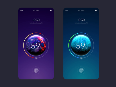 Planet Lock Screen Motion Concept charging loading universe earth planets planet lock screen lockscreen ux motion mobile product interface interaction animation ui inspiration minimal design