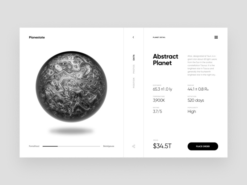 Planestate – Layout Exploration clean ux planet typogaphy header interface website web grid ui typography inspiration minimal design