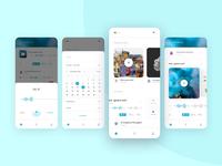 UI design and concept for Audio-social App