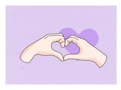 Heart Hand valentinesday dribbbleweeklywarmup vector illustration