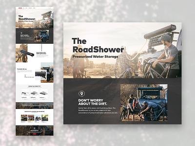 RoadShower Landing Page — Yakima.com sports interface web design landing page design landing page