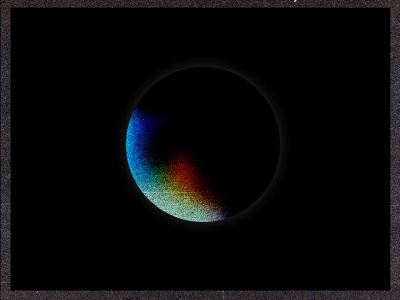 Partial Eclipse galaxy space moon experiments texture illustration