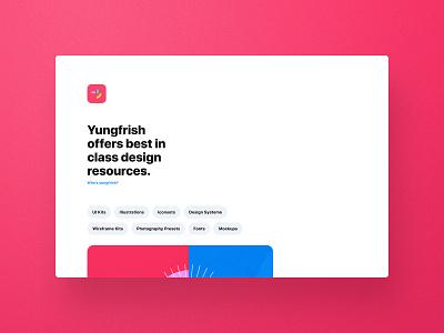 Yung Frish Shop Incoming branding logo illustration shopping cart shopping system ressources design ux ui yungfrish shop